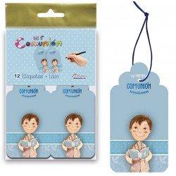 Bolsa 12 etiquetas para los detalles niña con Biblia