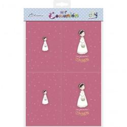 Bolsa 10 recordatorios para foto Comunión niña cesta flores