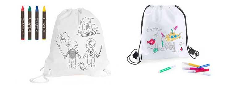 Originales mochilas infantiles para pintar