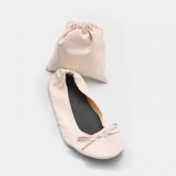 Bailarinas enrollables color marfil