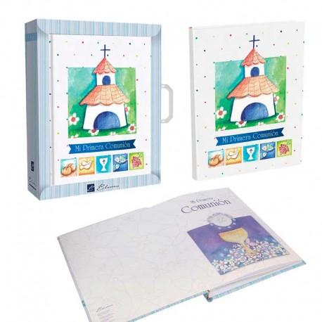 Libro Comunión para firmas con maletín, bonita iglesia