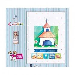 Libro de Comunión firmas con USB, bonita iglesia