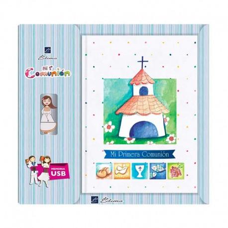 Libro para Comunión firmas con USB bonita iglesia