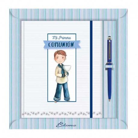 Diario Comunión más bolígrafo, niño marinero con Cáliz