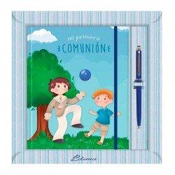 Diario Comunión más bolígrafo, niños jugando con balón