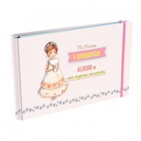 Álbum de Primera Comunión, Niña sonrosada con Cáliz