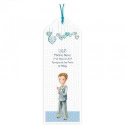 Pack 20 puntos de libro Comunión niño corazones