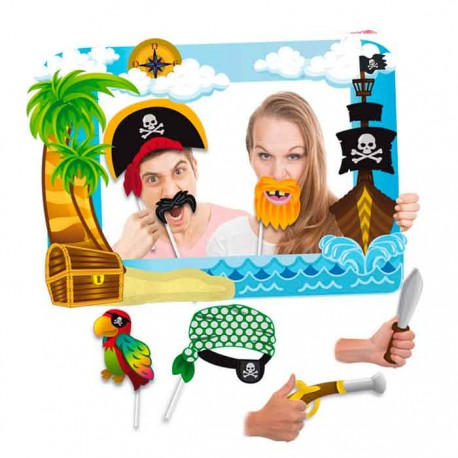 Marco para photocall, piratas con accesorios