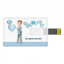 Tarjeta USB niño marinero con corazones