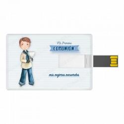 Tarjeta USB niño marinero con Cáliz
