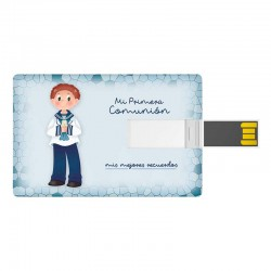 Tarjeta USB niño marinero con vela