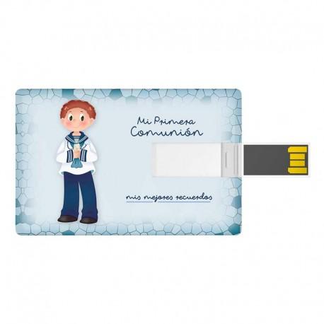 Tarjeta USB 16 GB, niño marinero con vela