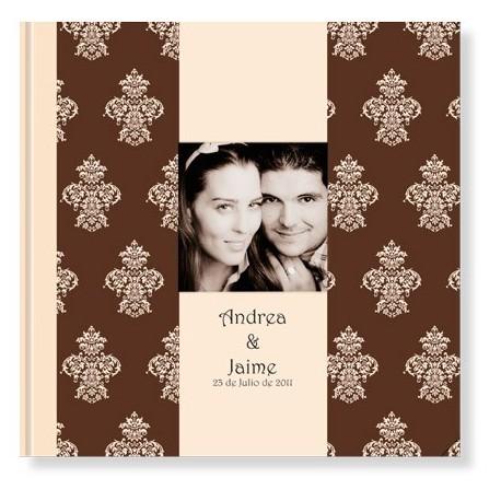 Libro de firmas para boda, Barroco Marró