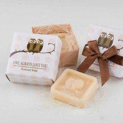 Jabón perfumado en caja y lazo