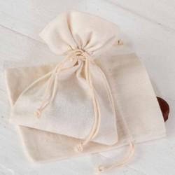 Bolsa algodón mediana en marfil