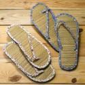 Chanclas Flip-Flop bambú y tela