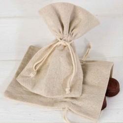 Bolsa algodón mediana en beige