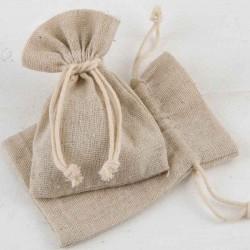 Bolsa algodón pequeña en beige