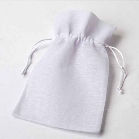 Bolsa algodón grande, 15 x 23 cm. Color blanco