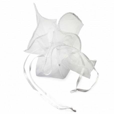 Bolsa pañuelo organdí color blanco