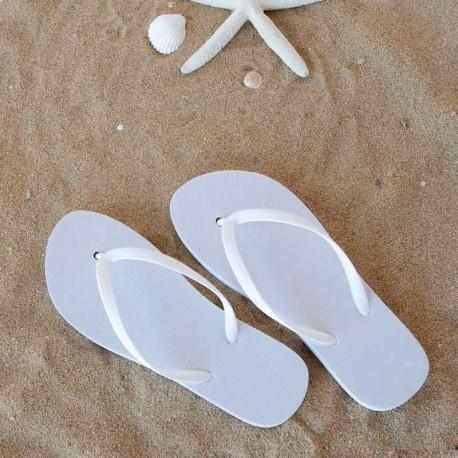 Chanclas Flip-Flop blancas. Detalles para bodas