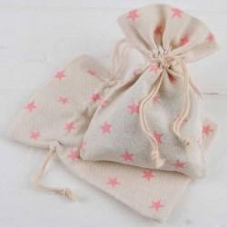 Bolsa algodón mediana estrellas