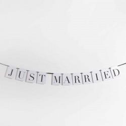 Guirnalda decorativa Just Married