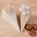 Caja piramide topos-lisa flor con 4 bombones