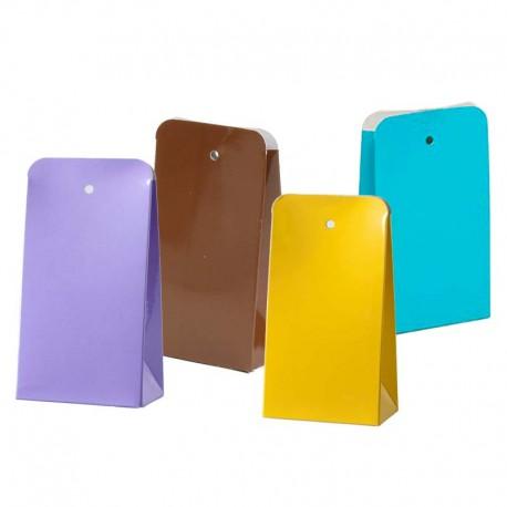 Cajas de colores, semialta de charol 11 x 6 x 3.5 cm.