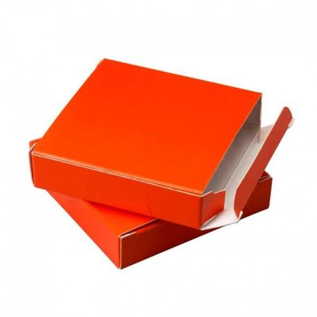 Estucha charol para bombones, color naranja