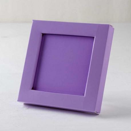 Caja marco charol lila 10 x 10 x 1,5 cm.