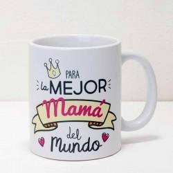 Taza regalo !Para la mejor mamá del mundo¡. En caja regalo