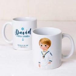 Taza mug personalizada niño Comunión marinero