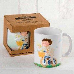 Taza mug niño bici Comunión personalizada