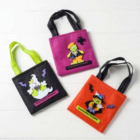 Bolsa para caramelos con personajes de Halloween