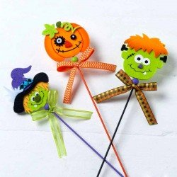 Pic en fieltro personajes de Halloween (Pack 3 und)