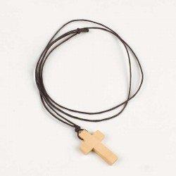Colgante cruz en madera