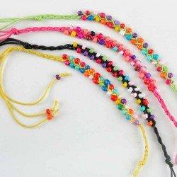 Pulsera piedrecitas en colores