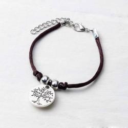 Pulsera con medalla simbolo árbol de la vida