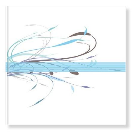 Libro de Firmas Boda modelo Floral azul