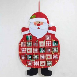 Calendario de Adviento Papa Noel con led