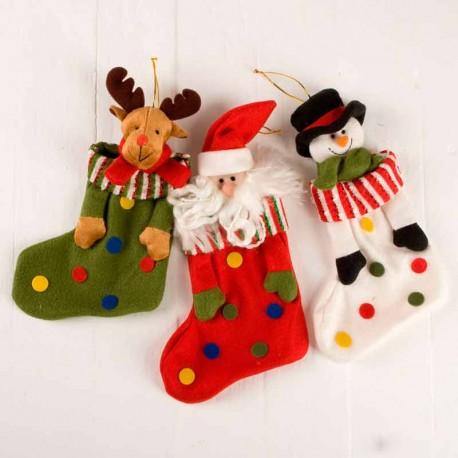 Calcetín navideño para colgar en el árbol navidad
