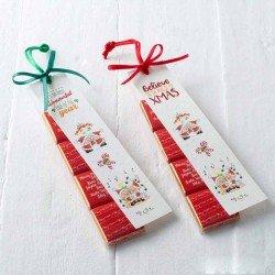 Estuche 4 napolitanas con punto de libro Pit y Pita beso, Navidad