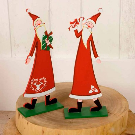 Figura de madera Papá Noel