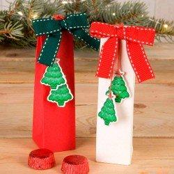Caja con sticker árbol y dos bombones
