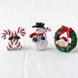 Imán Pit y Pita, Muñeco de nieve y Bastón dulce