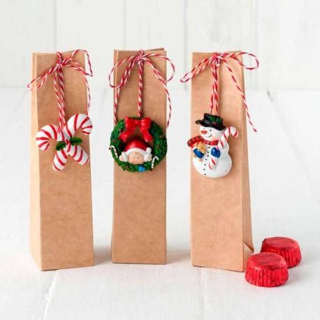 Caja con imán navideño y 2 bombones, 3 modelos