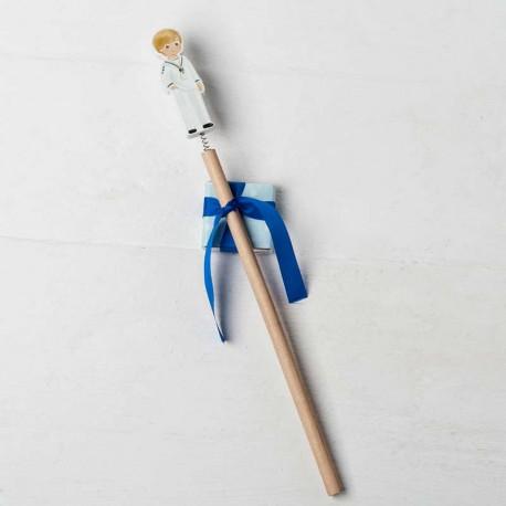 Lápiz de madera niño marinero con dos napolitanas