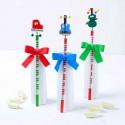 Lápices infantiles con instrumentos musicales y caramelos