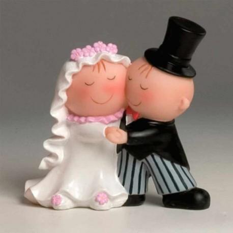 Figura de novios bailando, figuras para la tarta de boda